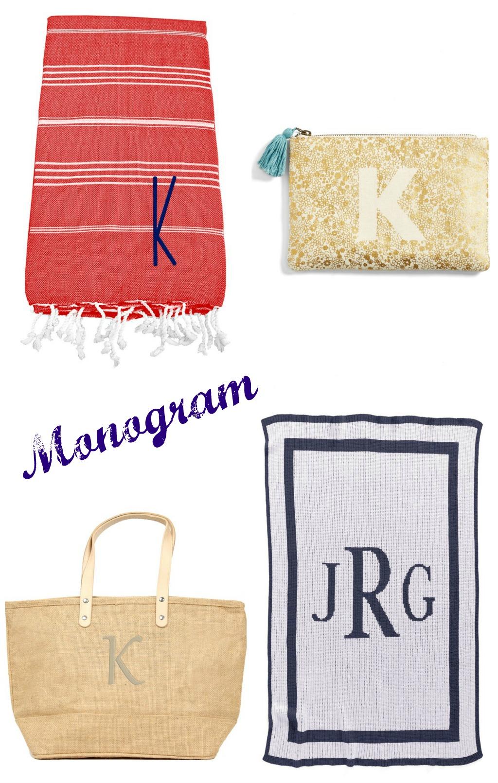monogram must haves