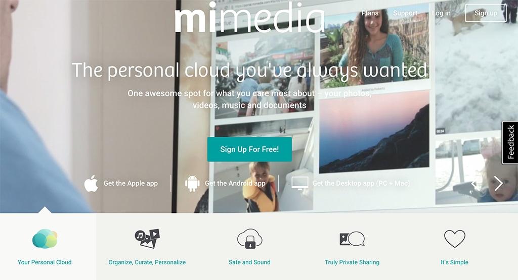 MiMedia Homepage