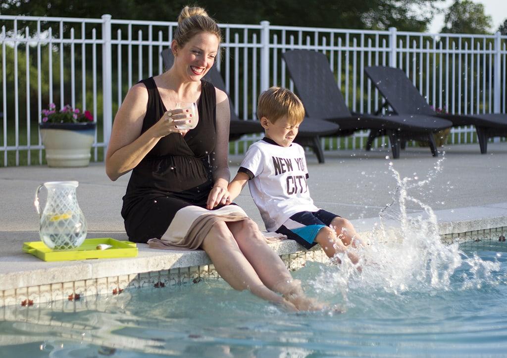 Splashing Poolside