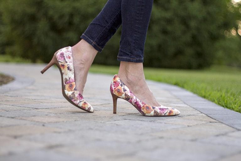 Flirty Floral Heels