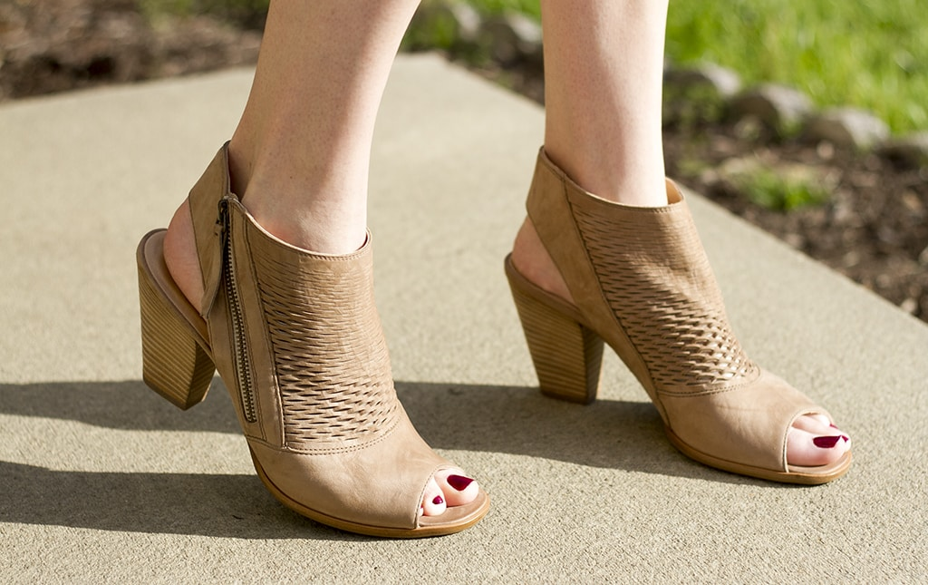 fall peep toe booties