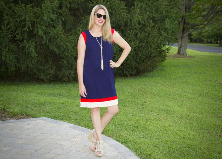 Red, White and Blue Dress. Go Team USA!