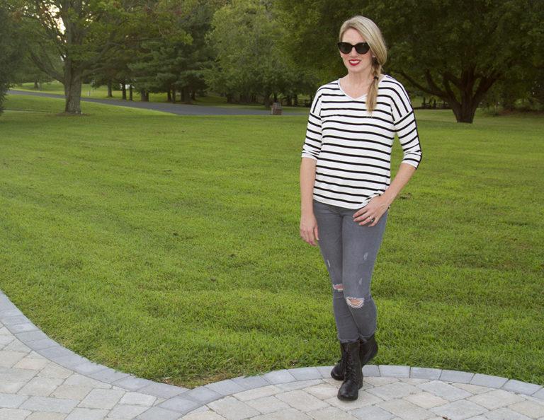 Edgy Stripes Meets Girl-Next-Door
