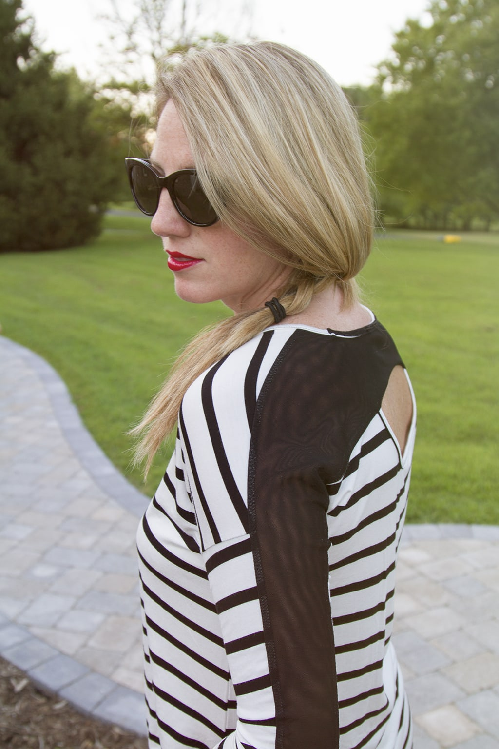 Striped Back Top