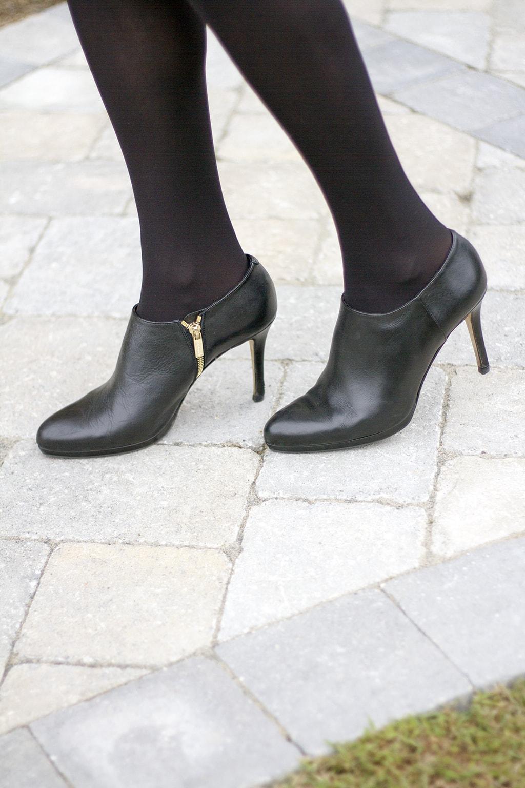 Black dressy booties