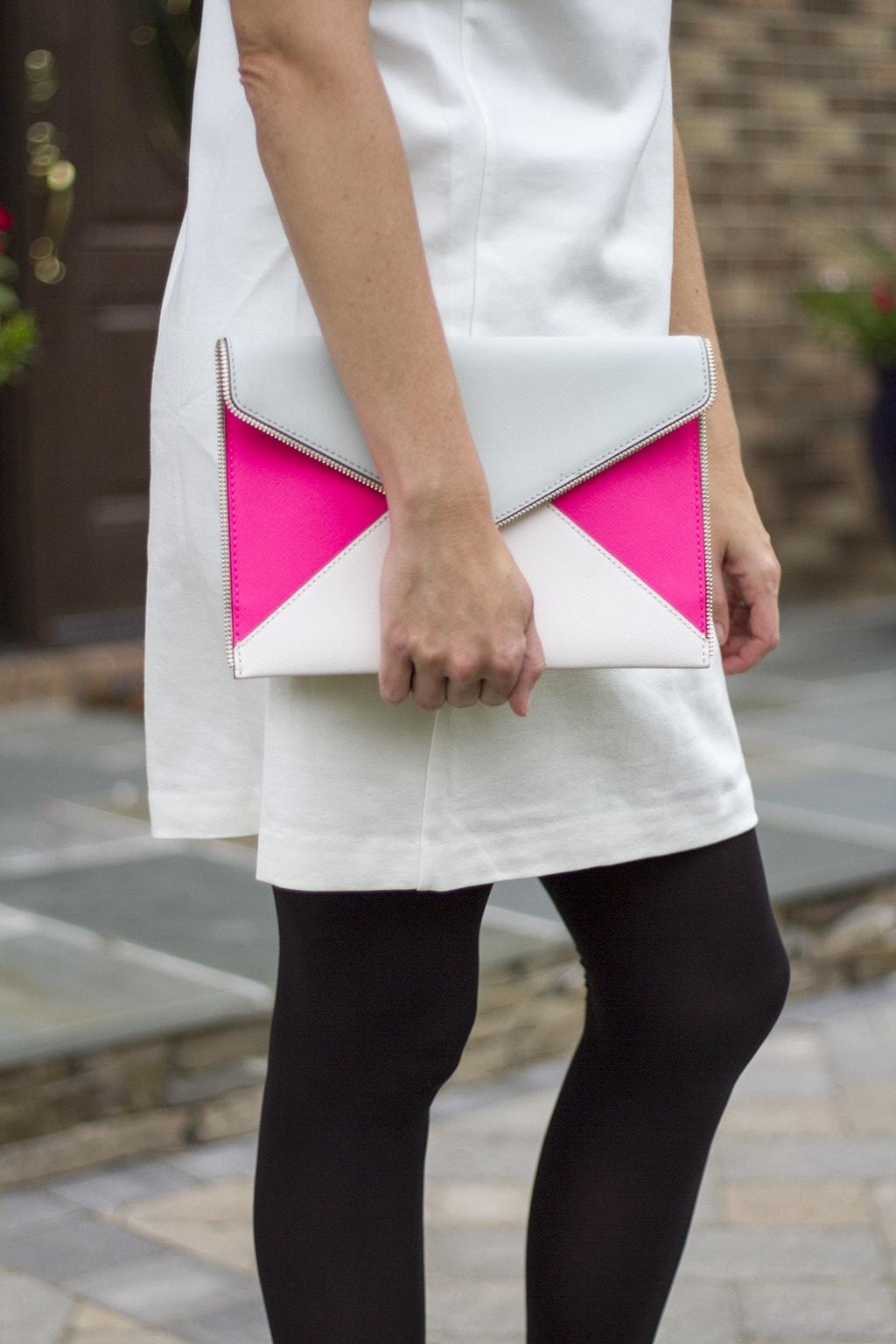 Colorblock clutch