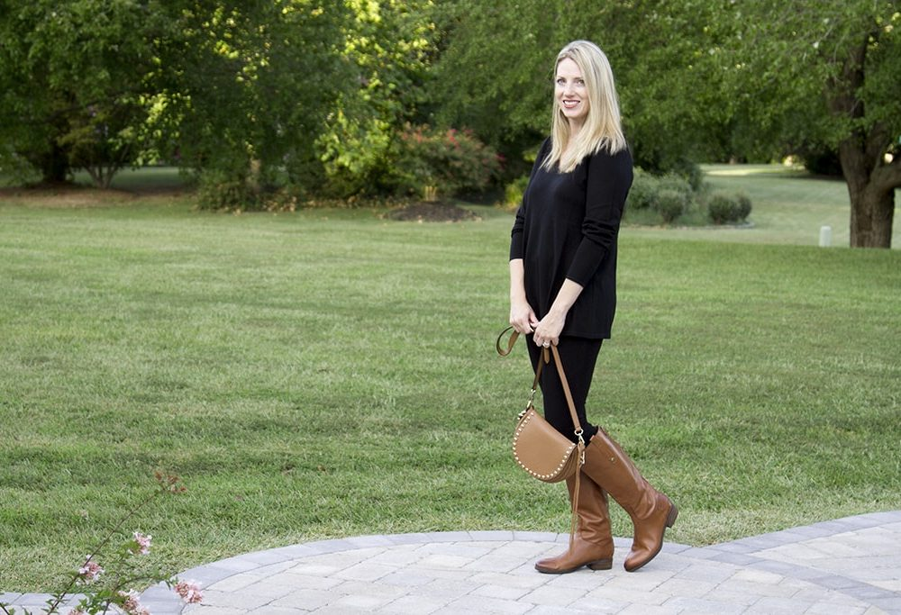 Easy Fall Look w Black Tunic