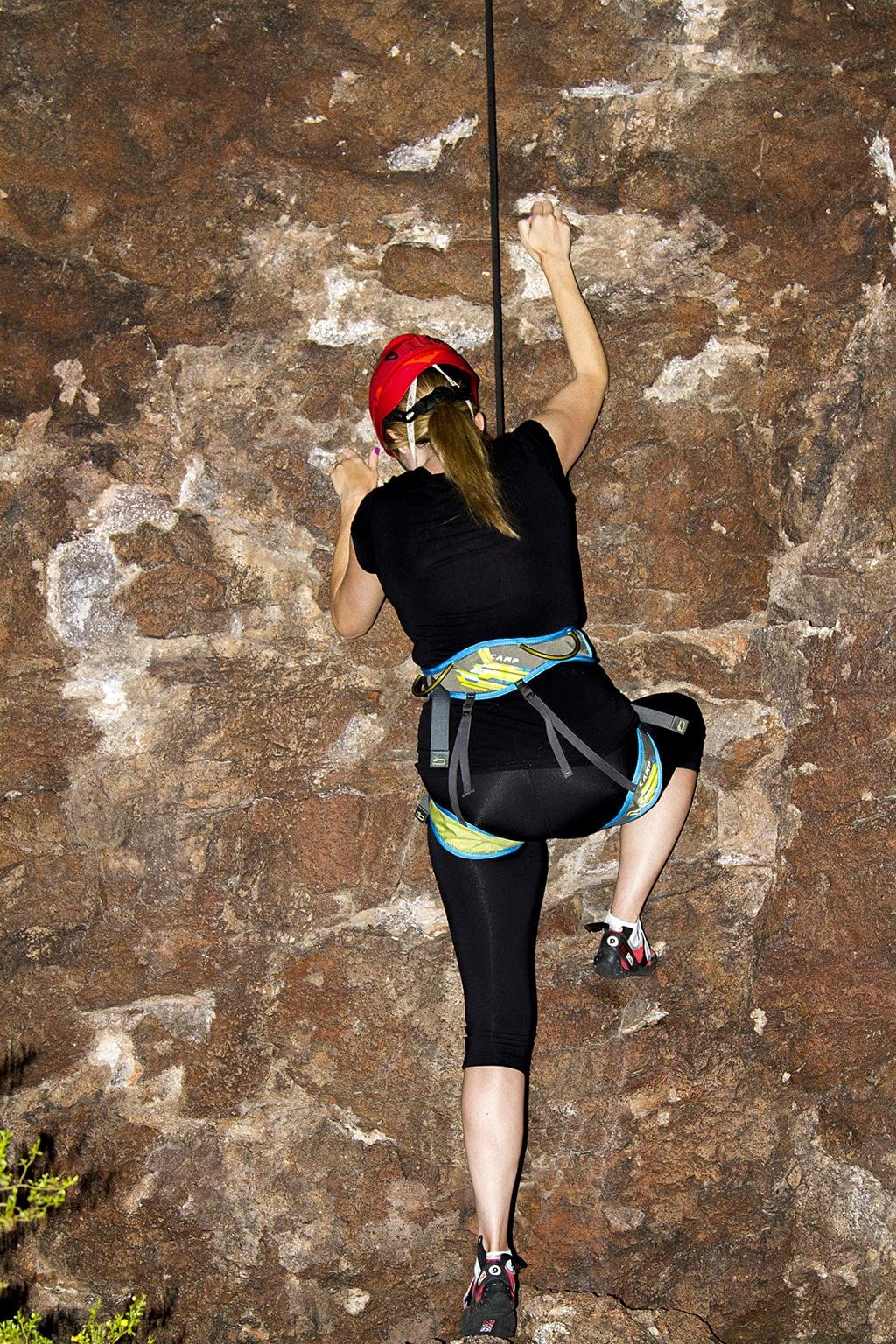 rocking climbing gear