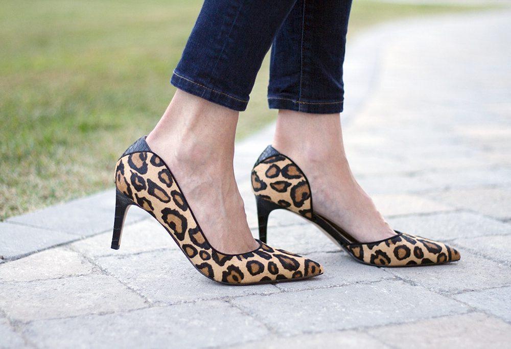 Sam Edelman Leopard Print Heels