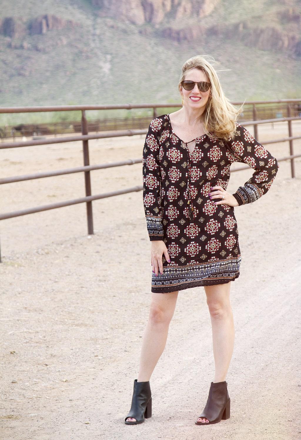 Fall Print Dress
