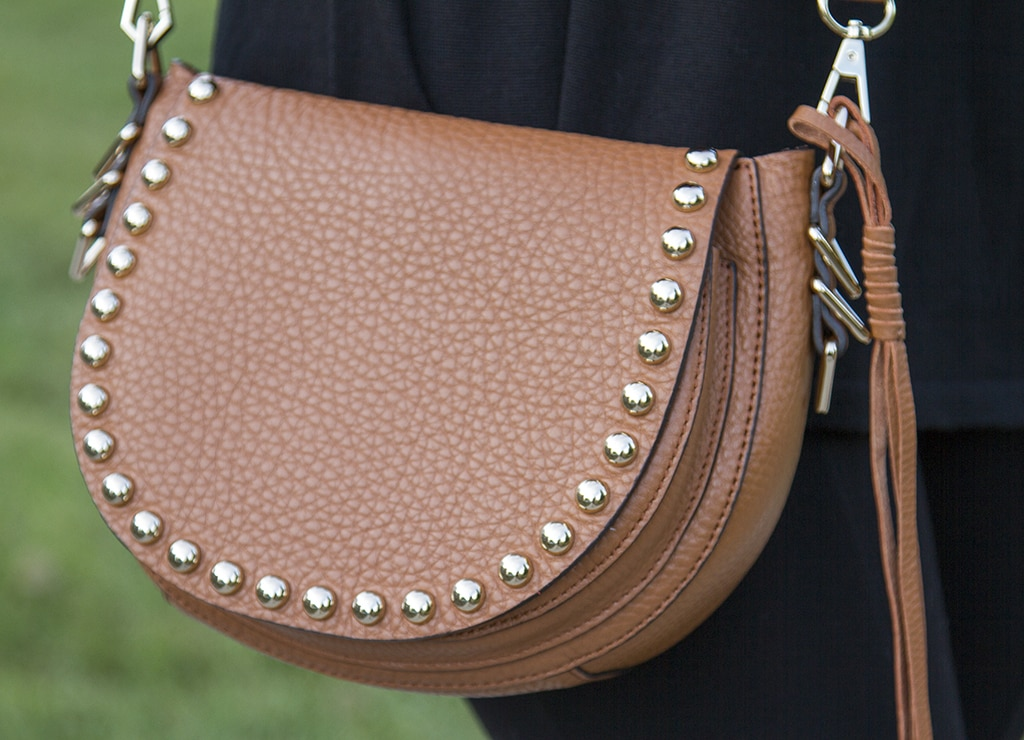 Brown Studded Saddle Bag