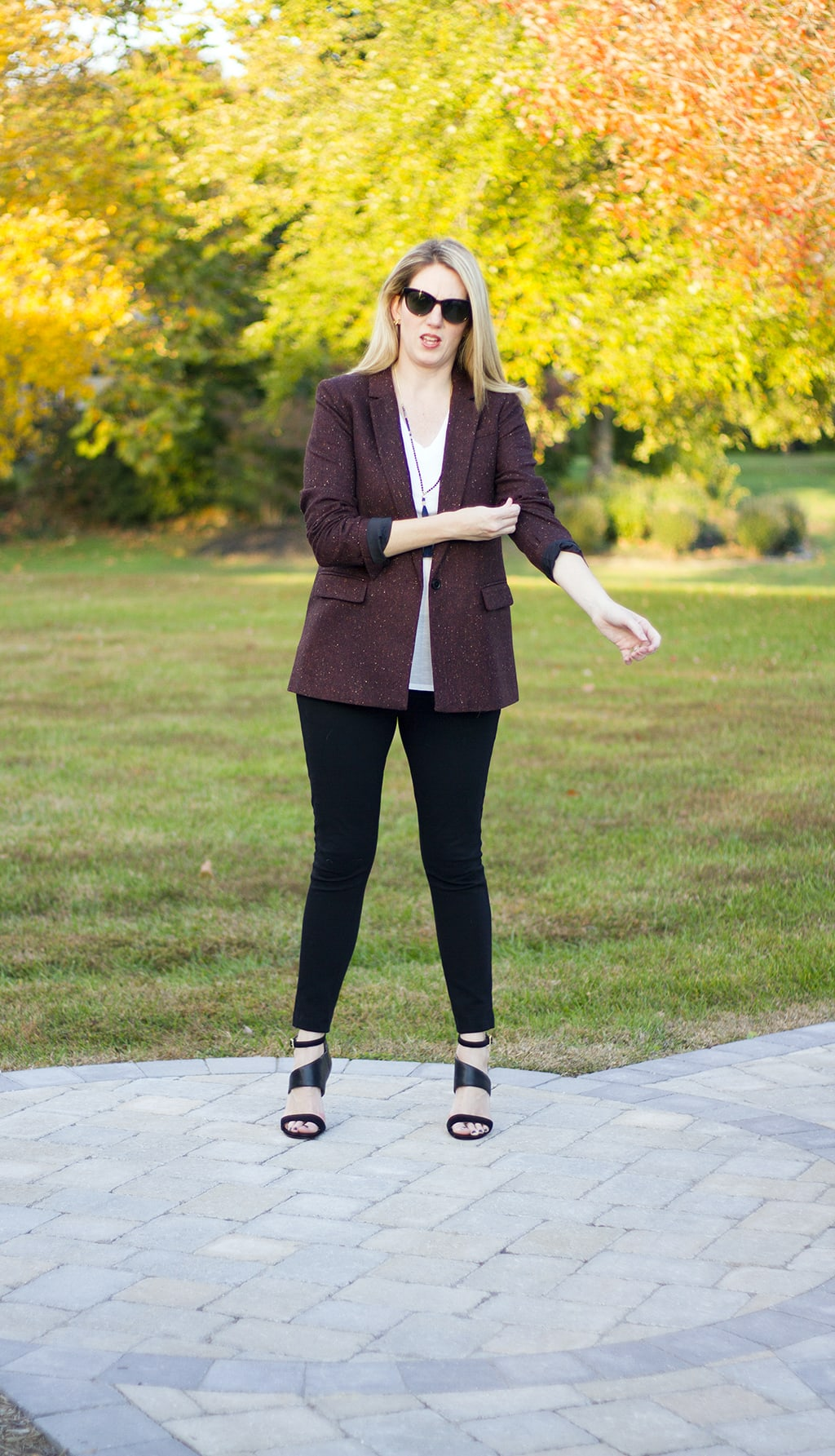 Perfect White Tee and Fall Blazer