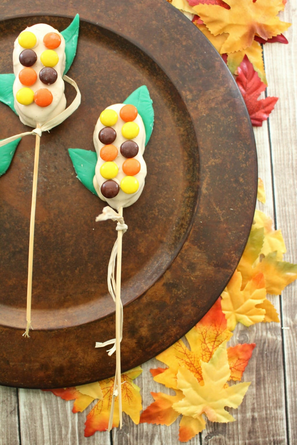 candy corn stalk treats