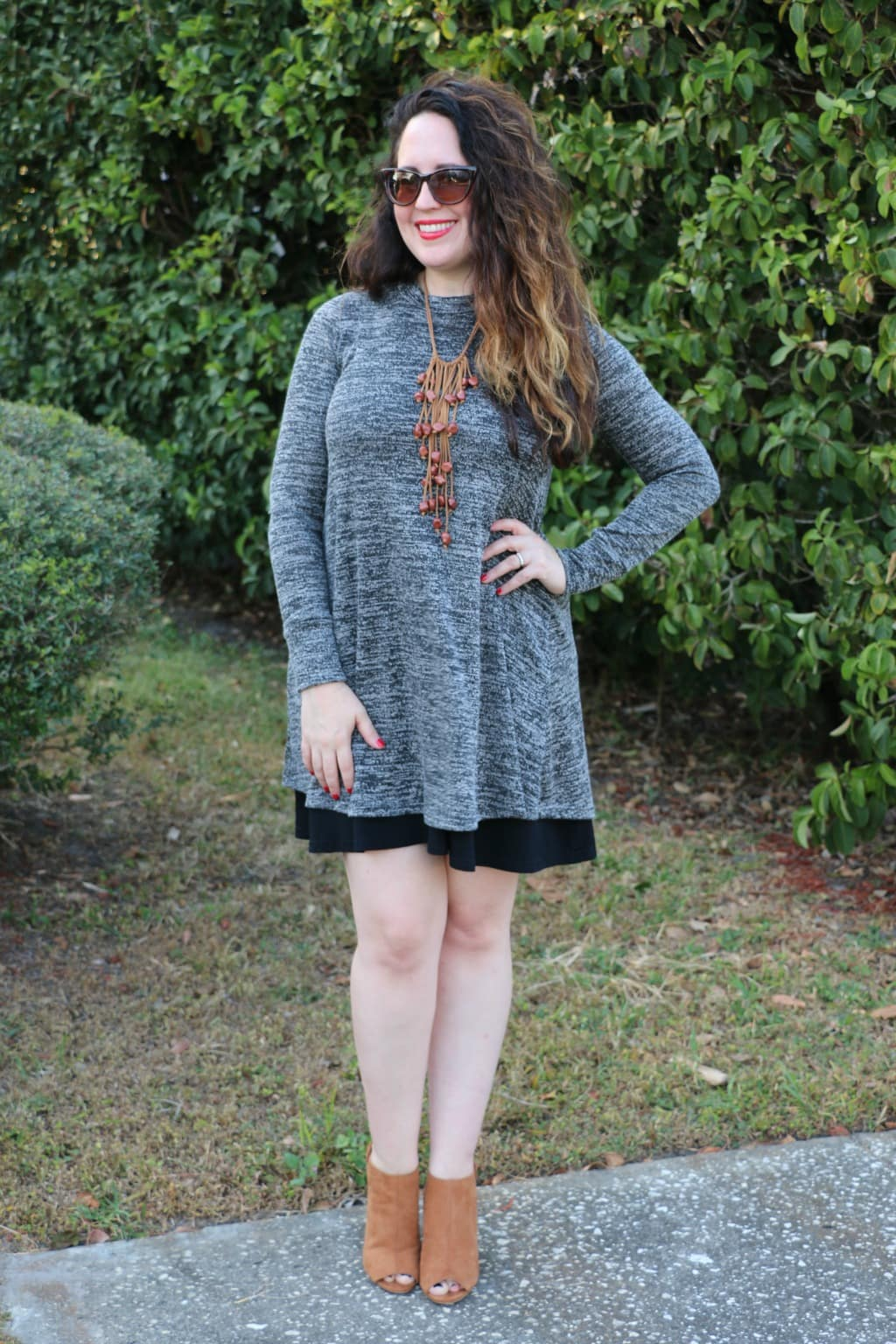 Grey holiday dress