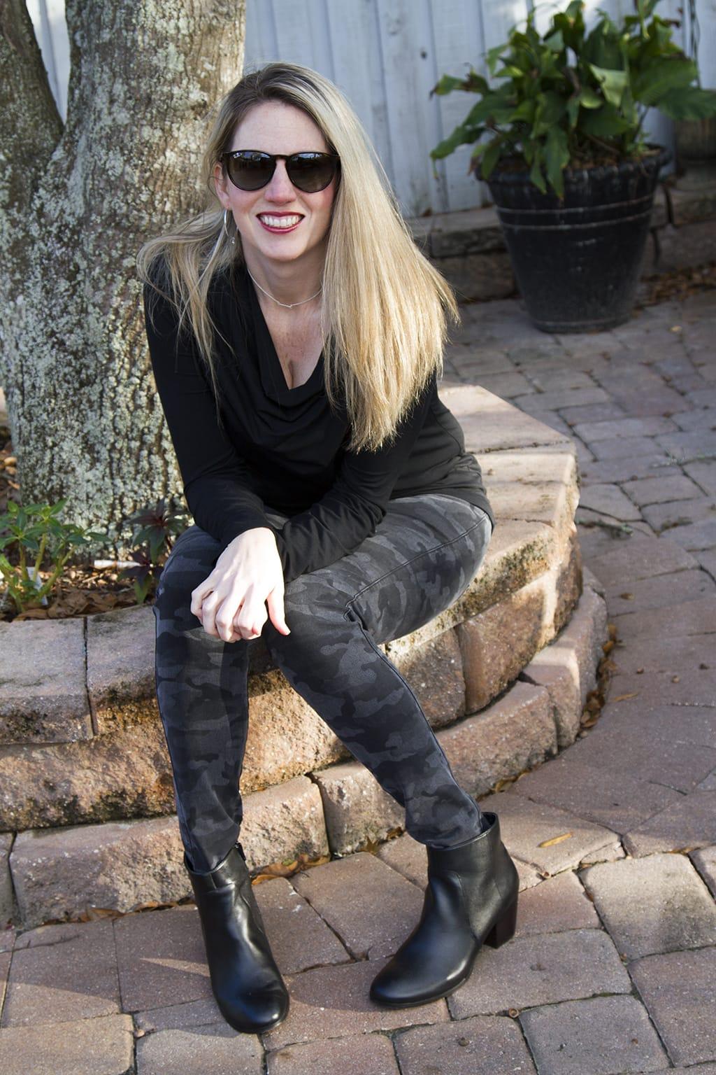 Black Camo Jeans