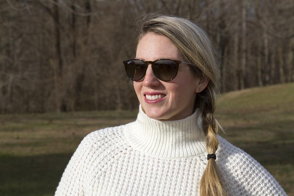 Cream sweater and side braid