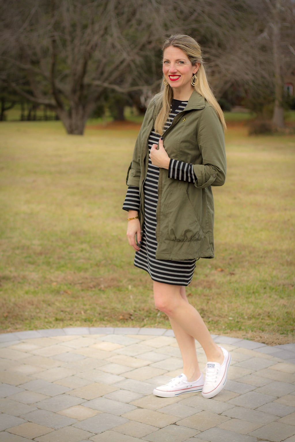 J. Jill Striped Casual Dress