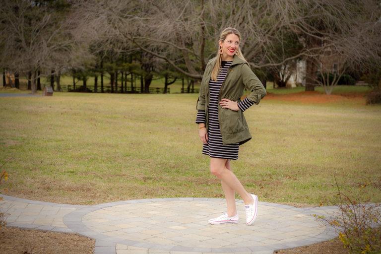 J. Jill Striped Casual Dress