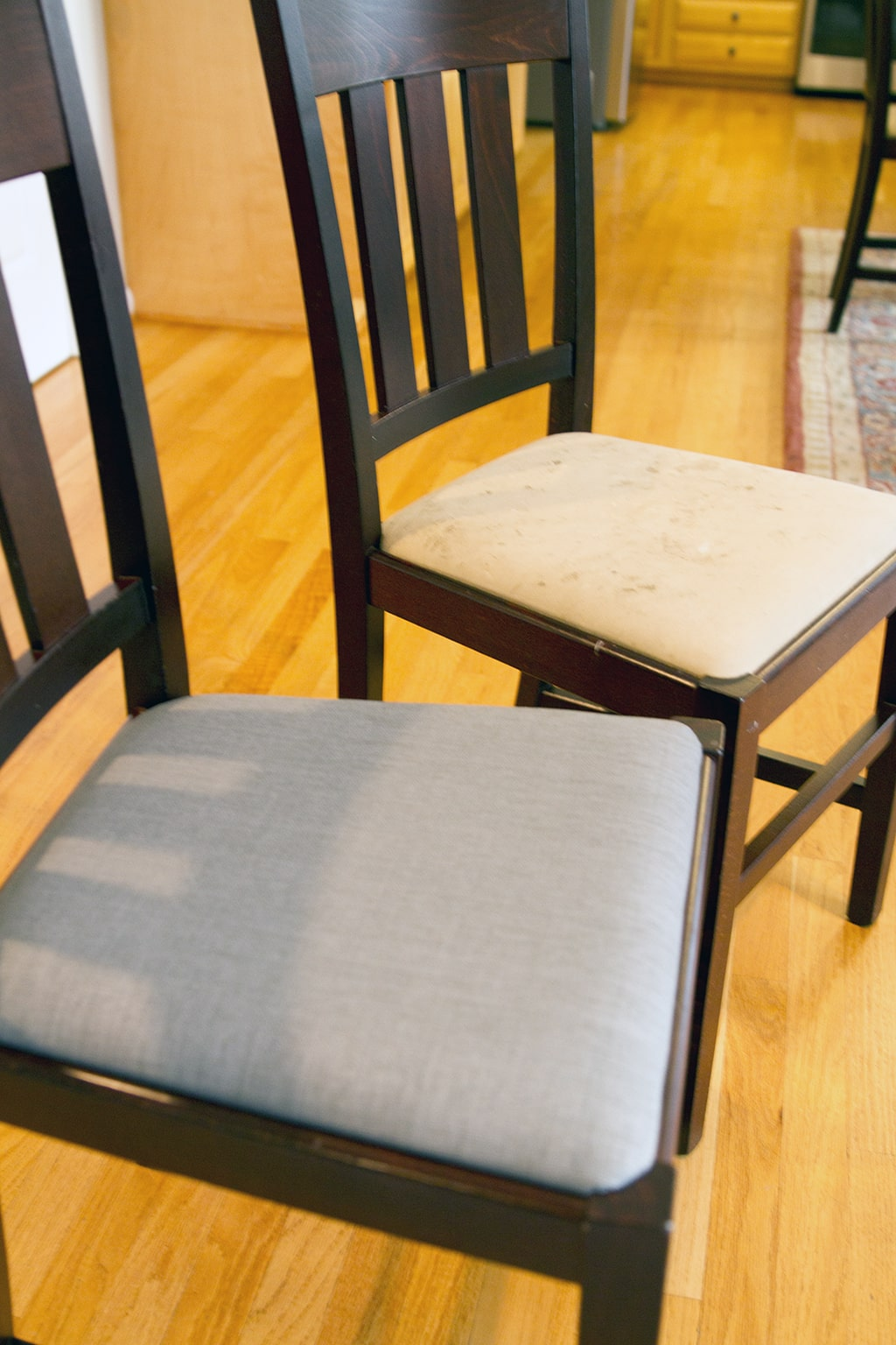 Before and After chairs side by side