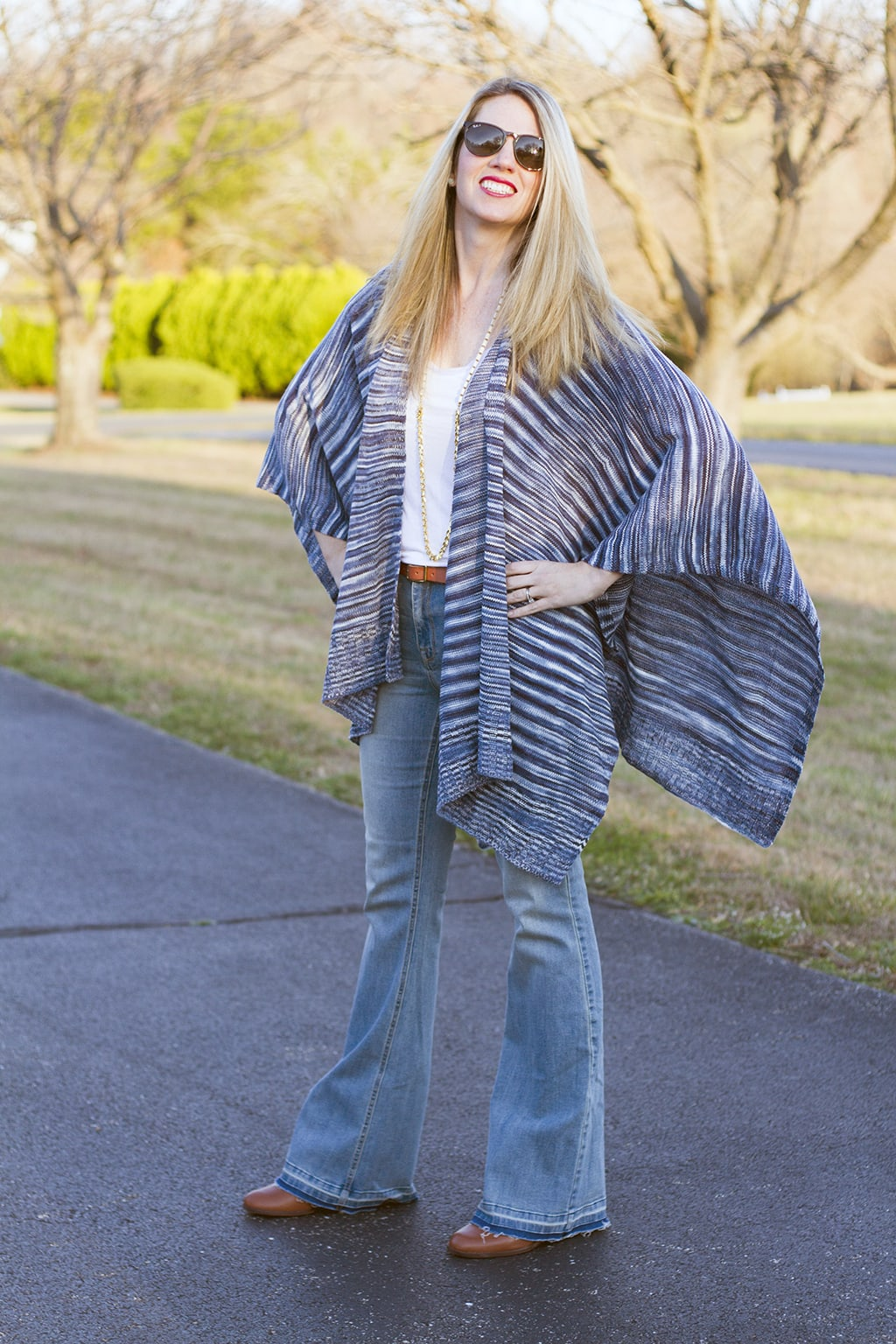 Love spring in lightweight poncho