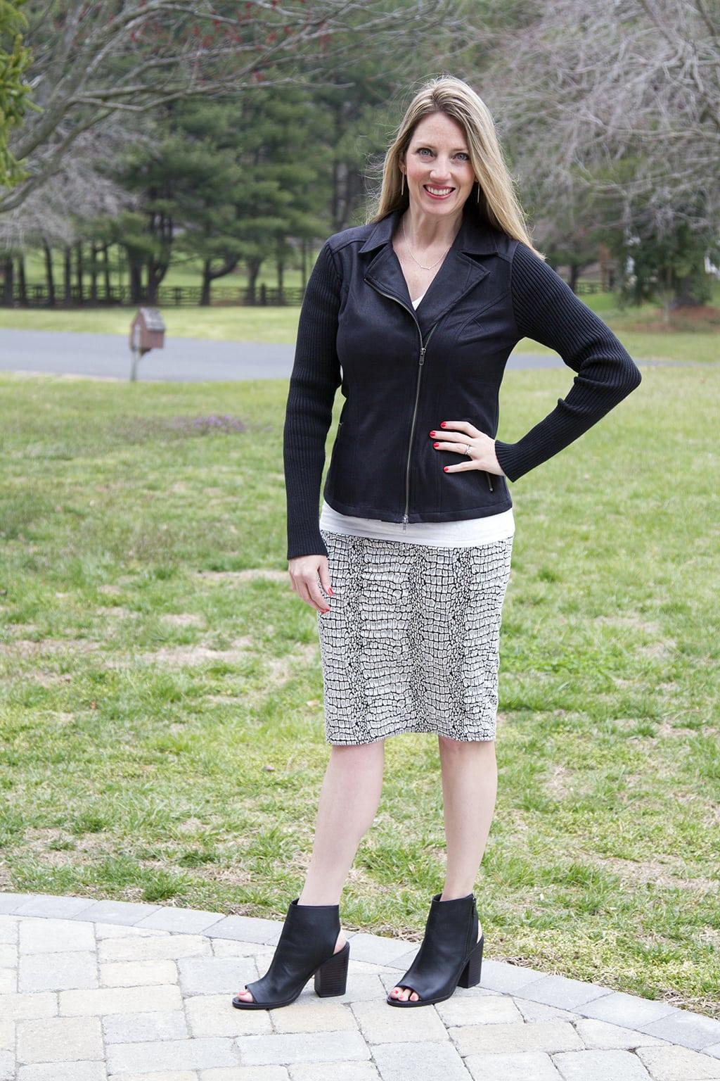 Cotton pencil skirt