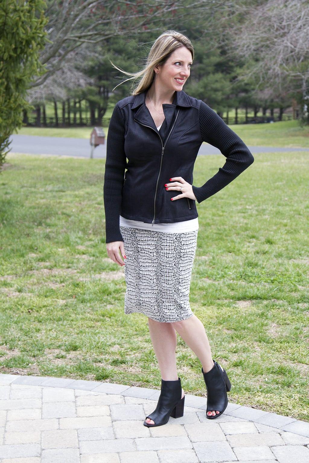 Stitch Fix cotton pencil skirt