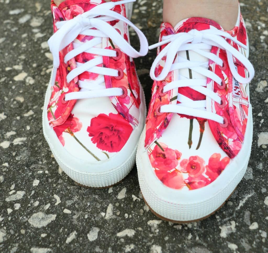 superga floral sneakers