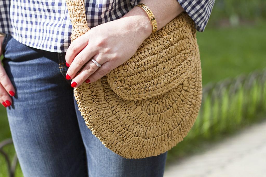cross body straw bag