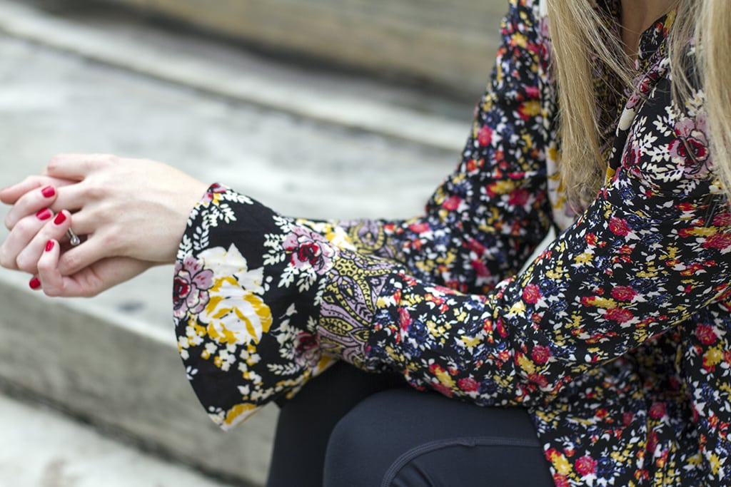 Floral Boho Tunic Sleeve Details