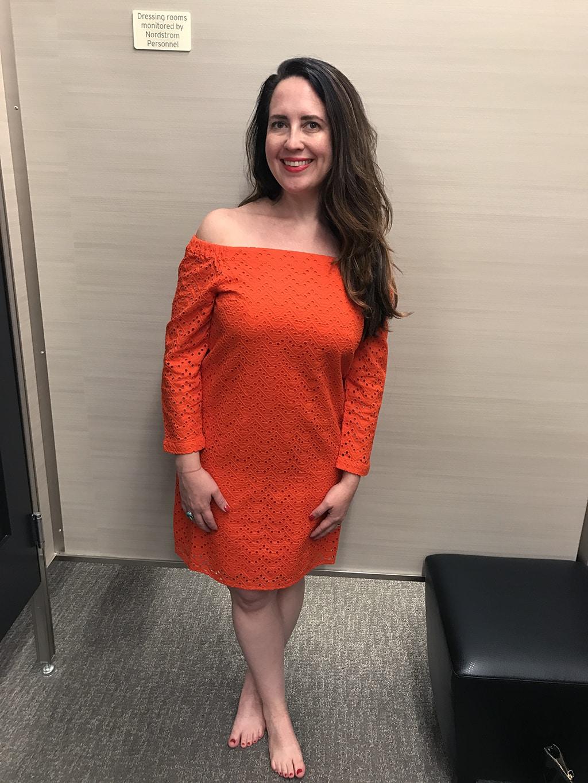 K Orange Dress