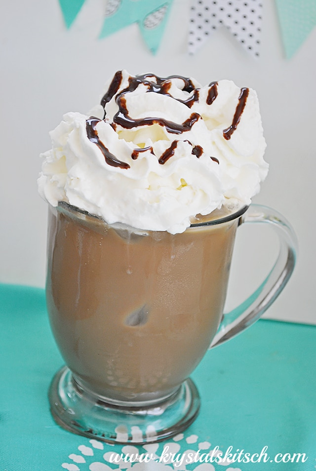 Iced Coffee Recipes - Peppermint Iced Mocha Dessert