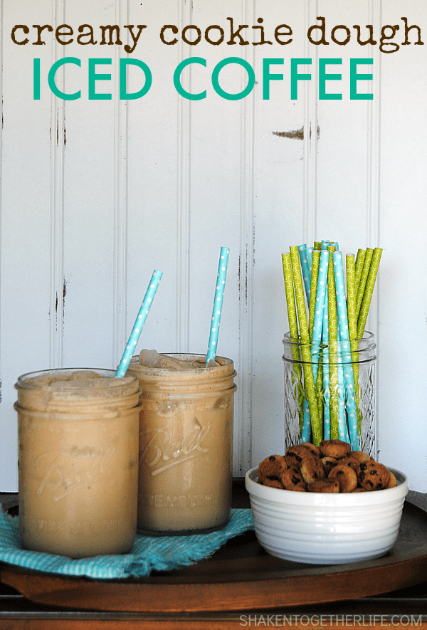 Iced Coffee Recipes - Creamy Cookie Dough Iced Coffee