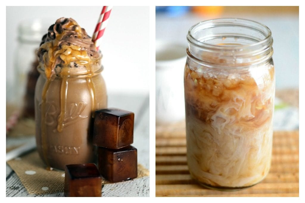 iced and frozen coffee