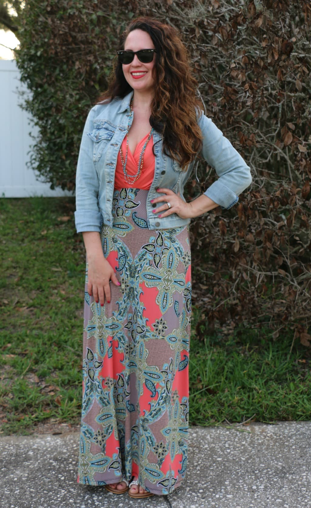 maxi dresses and denim jackets