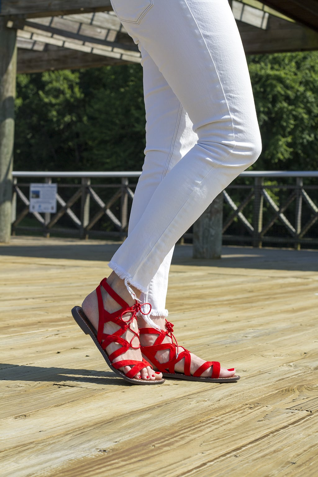 Red Sam Edelman Sandals