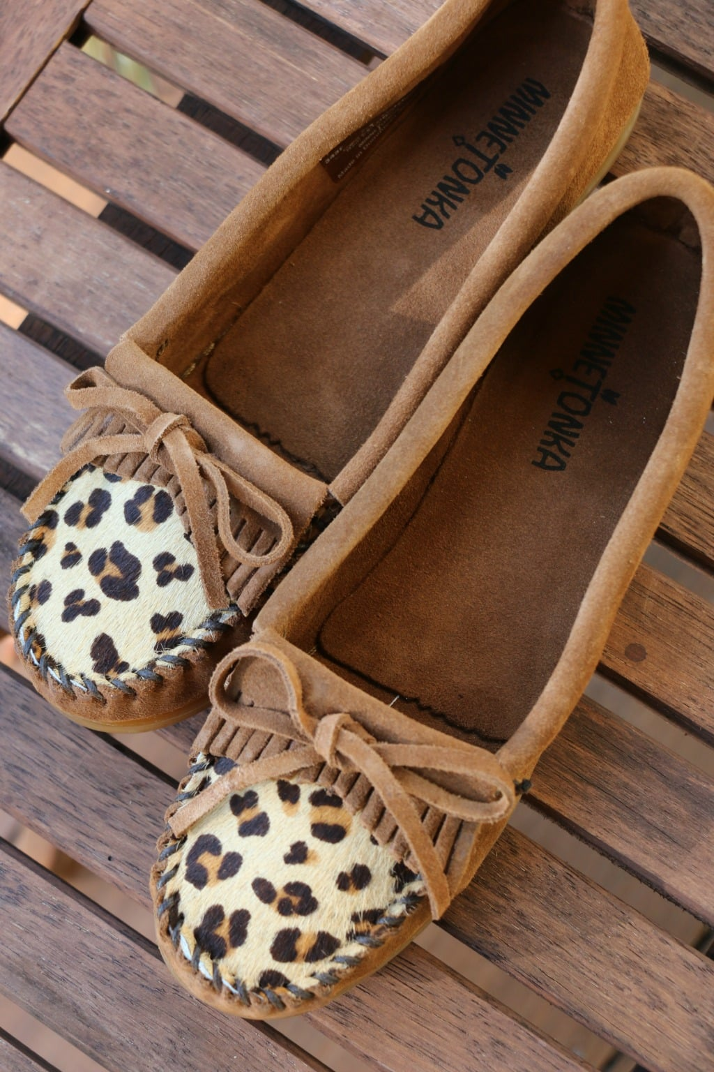 animal print minnetonka moccasins