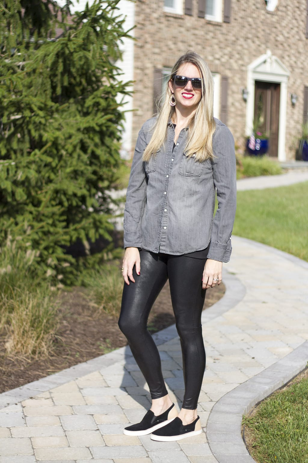 Grey Denim Shirt for Fall