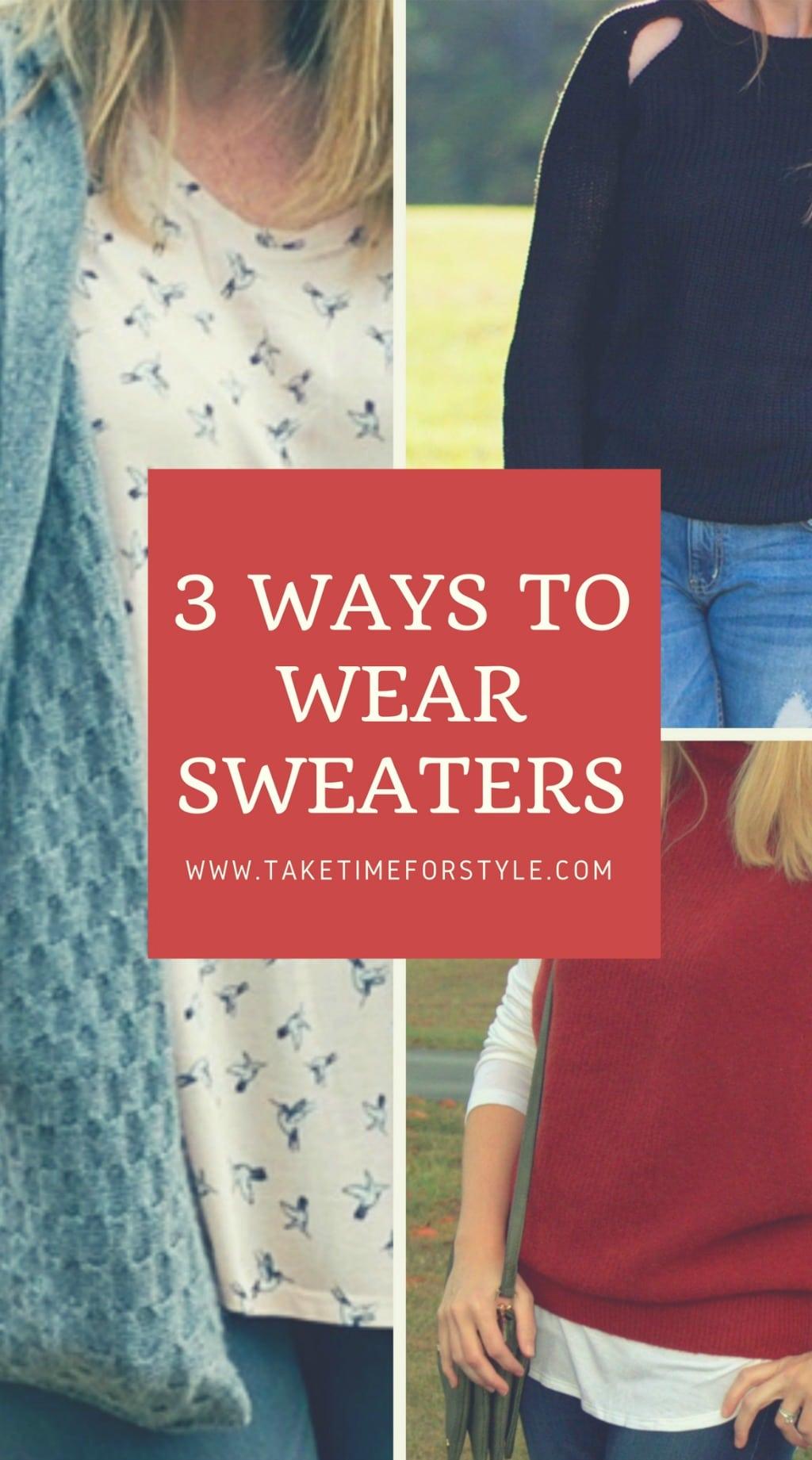 ways to wear sweaters