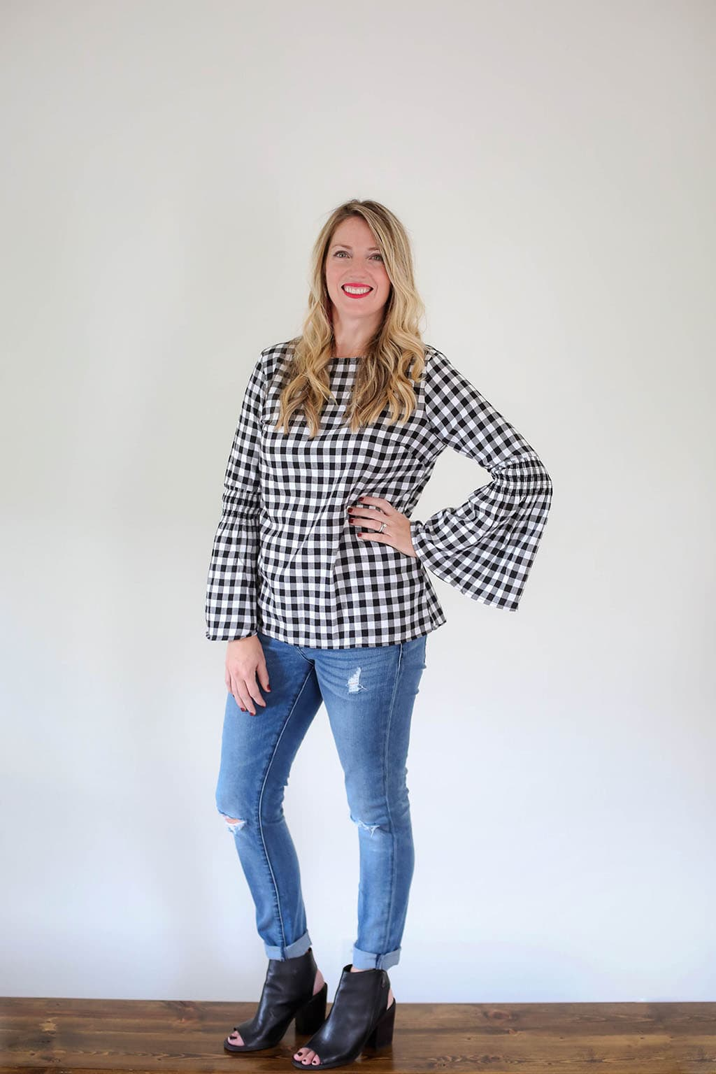 Plaid Bell Sleeves