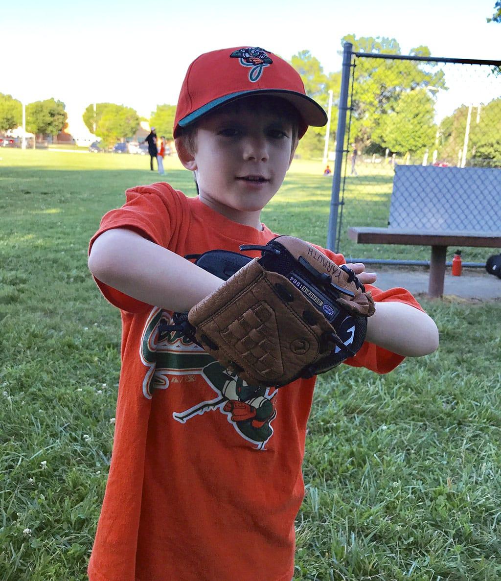 Jake Playing Baseball