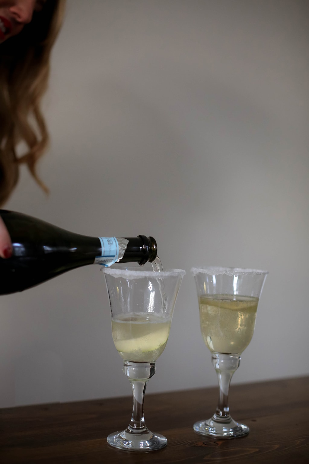 Perfectly Pear Champagne Cocktail