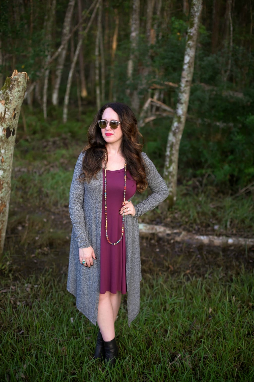 how to wear layers with a dress