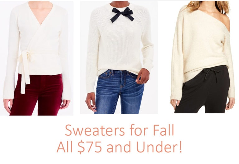 8 Fall Sweaters $75 and Under