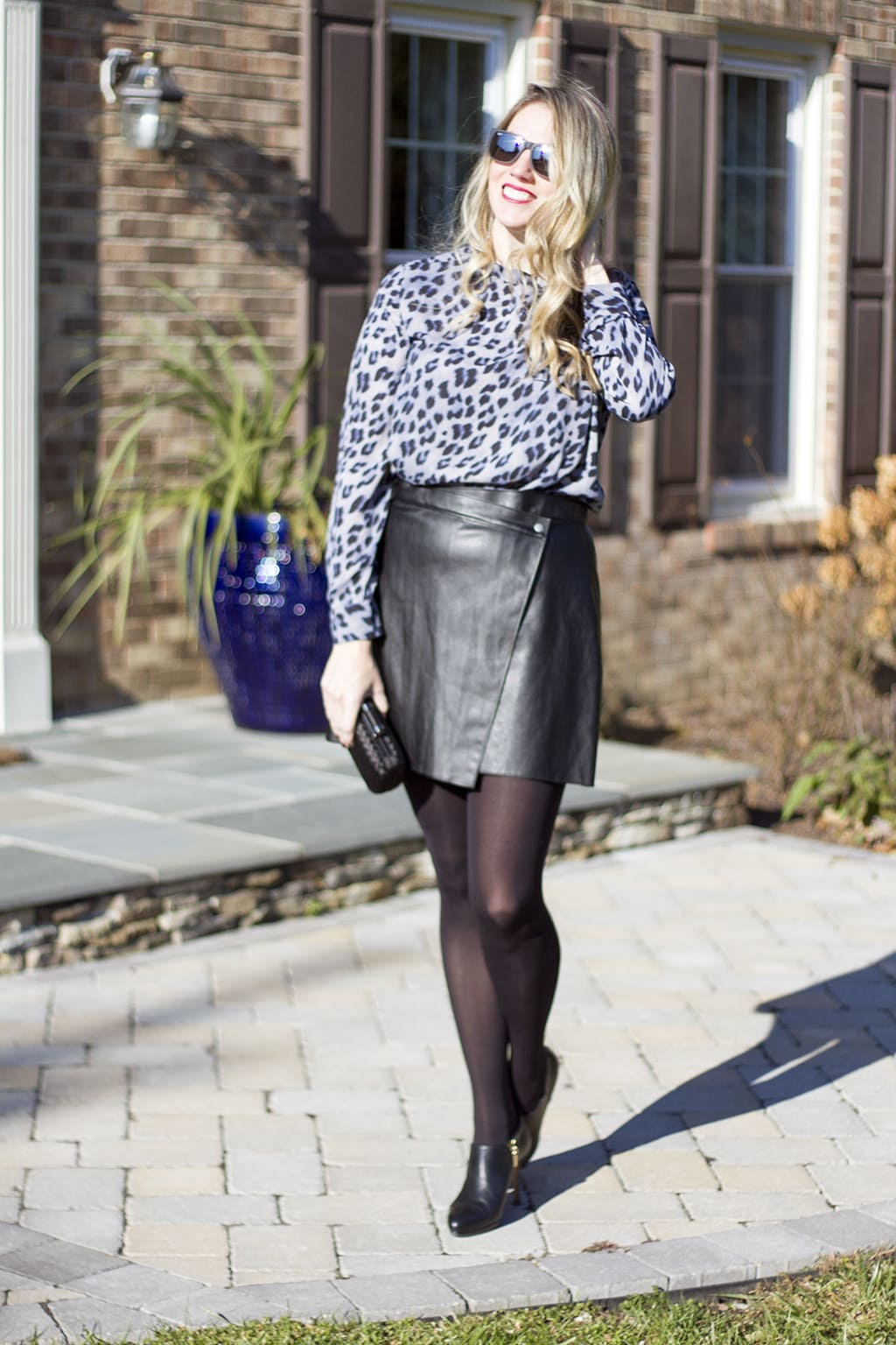 Leather and Leopard Holiday Style