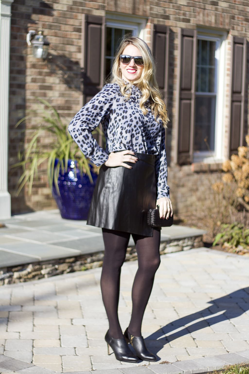 Leather Skirt and Leopard Holiday Style