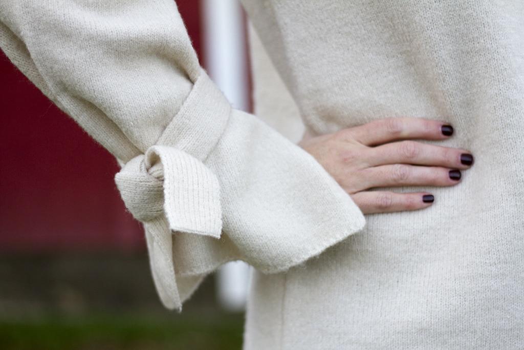 Statement Sleeve Sweater Detail