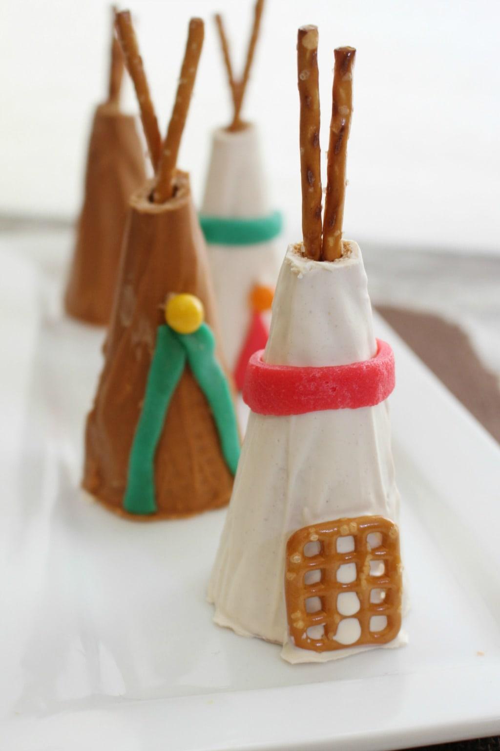 sugar cone teepees