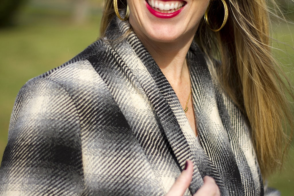 Plaid Sweater Coat Style
