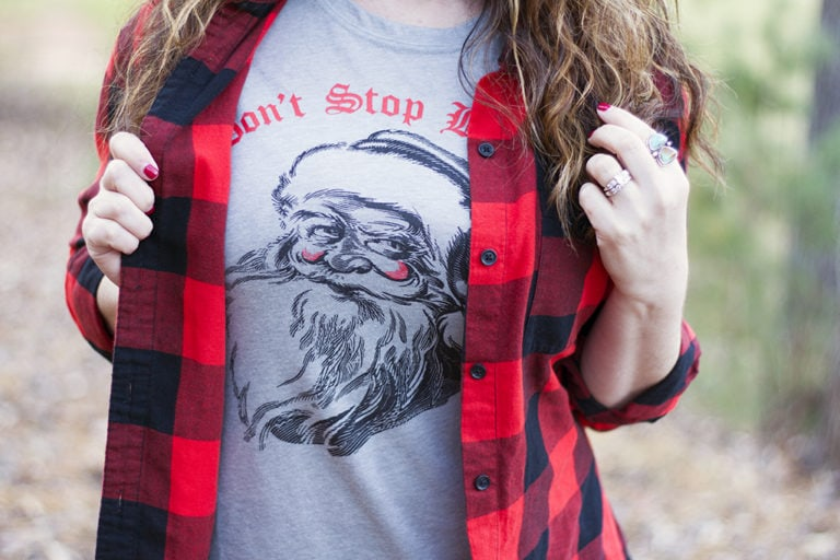 How to Wear A Holiday Graphic Tee