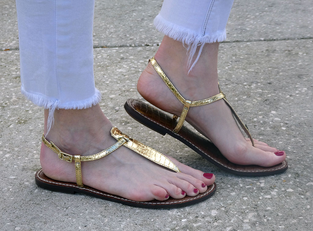 Gold Gigis Sandals